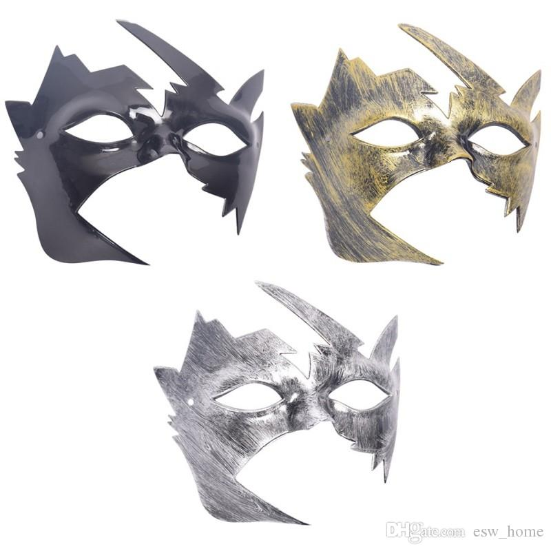 halloween wholesale Men Burnished Antique Silver Gold Venetian Mardi Gras Masquerade Party Ball Mask men masquerade mask supplies