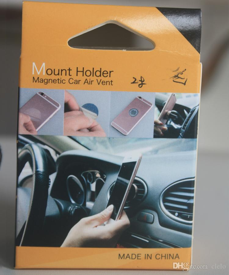 2018 Car Mount Air Vent Magnetic Universal Cell Phone Holder For Moblie Phone iPhone 6S 7 Plus One Step Mounting best seller