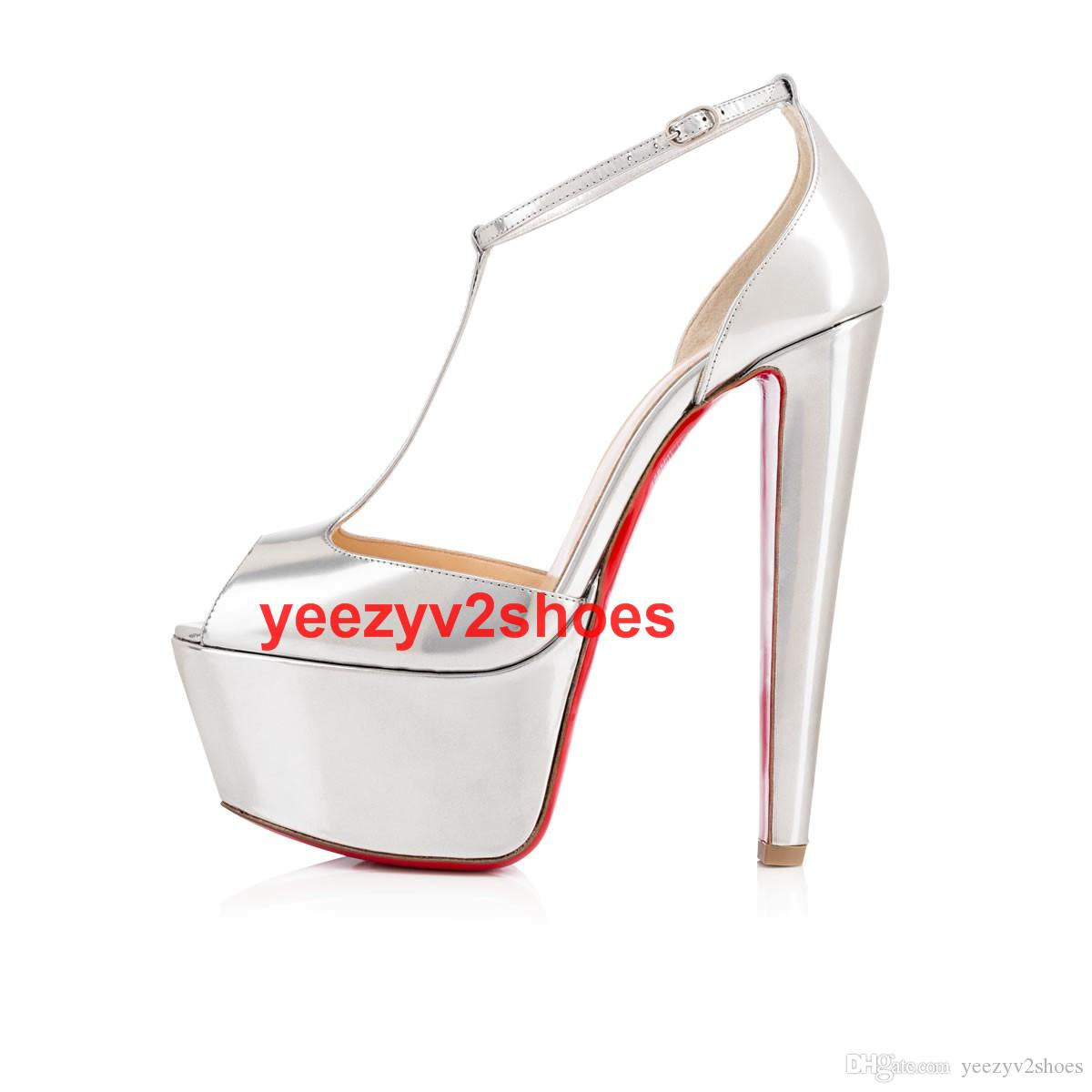 e08346e7e39fd Super Quality Women Waterproof Platform Shoes High Heels Patent ...