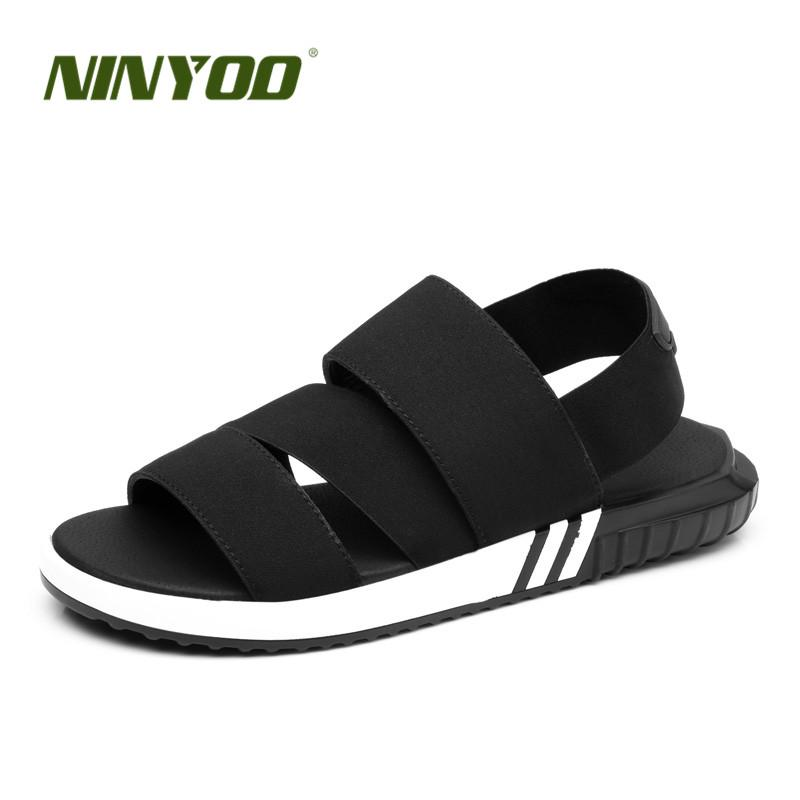 36577296714f5 NINYOO Europe Station Men s Sandals Slippers Lovers Summer Casual Shoes  Outdoor Beach Sandals Zapatos Flip Flops Plus Size 34 47 Strappy Sandals  Skechers ...