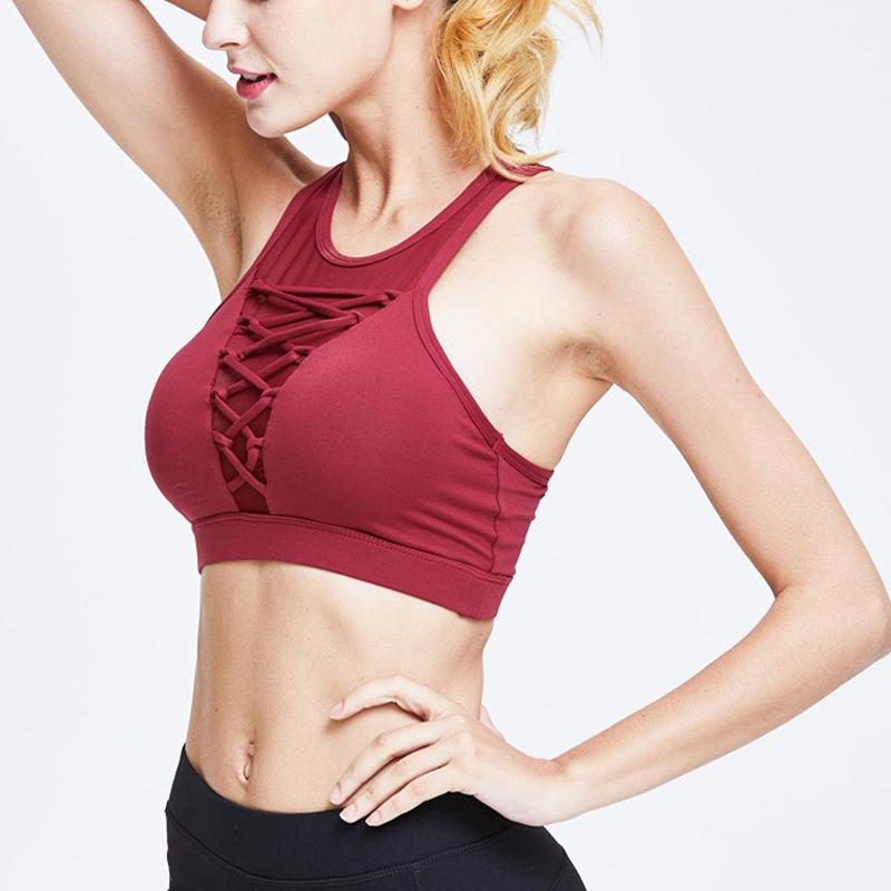7e549515fce17 2019 Women Sports Bra Yoga Shirt With Padding Lady S Workout Yoga Top  Fitness Tank Tops Running Fitness Gym Bras G 154 From Jingtianwat