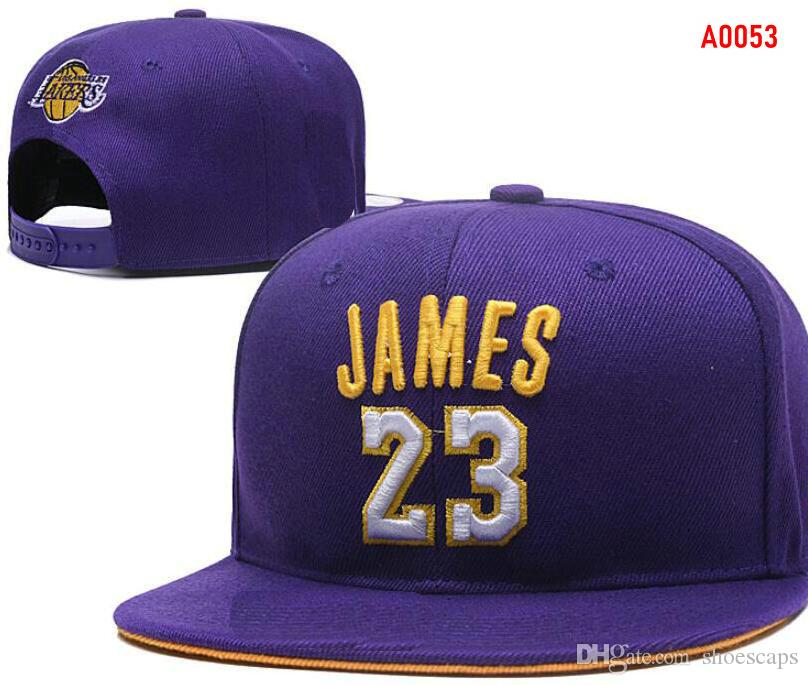 Factory Outlet New 23 James Hats LAL Lakers Snapback Caps Adjustable All  Team Baseball Women Men Snapbacks High Quality Sports Hat 002 Floral Ties  Novelty ... 12ec667dd83