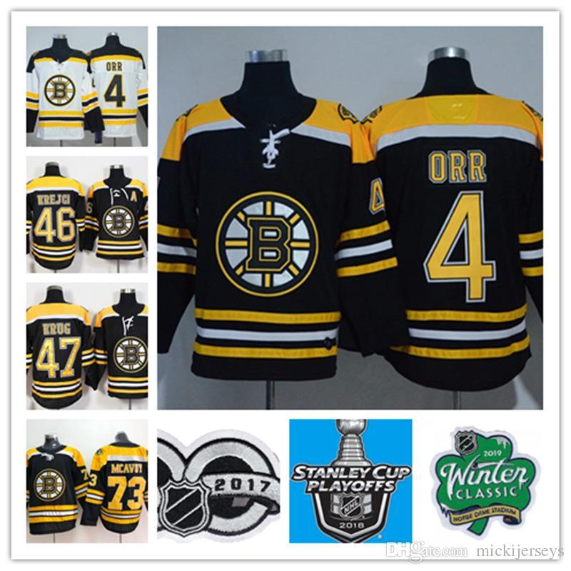 4105004b20f Acquista Boston Bruins Bobby Orr Maglia 46 David Krejci 47 Torey Krug 73  Charlie McAvoy 2019 Maglia Classica Invernale Boston Bruins Jersey A  22.31  Dal ...