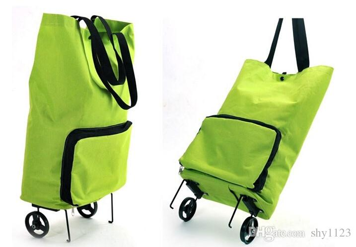 New Folding Portable Shopping Bag Shopping Buy Food Trolley Bag on Wheels Buy Vegetables Shopping Organizer Bag