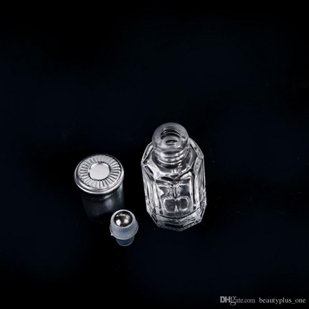 3ml 6ml 10ml 12ml Transparent Roll On Glass Bottle Fragrances Essential Oil Perfume Bottle With Metal Roller Ball