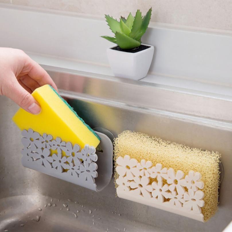 Kitchen Sink Sponge Holder.2019 Kitchen Sink Suction Sponges Holder Scrubbers Soap Storage Rack
