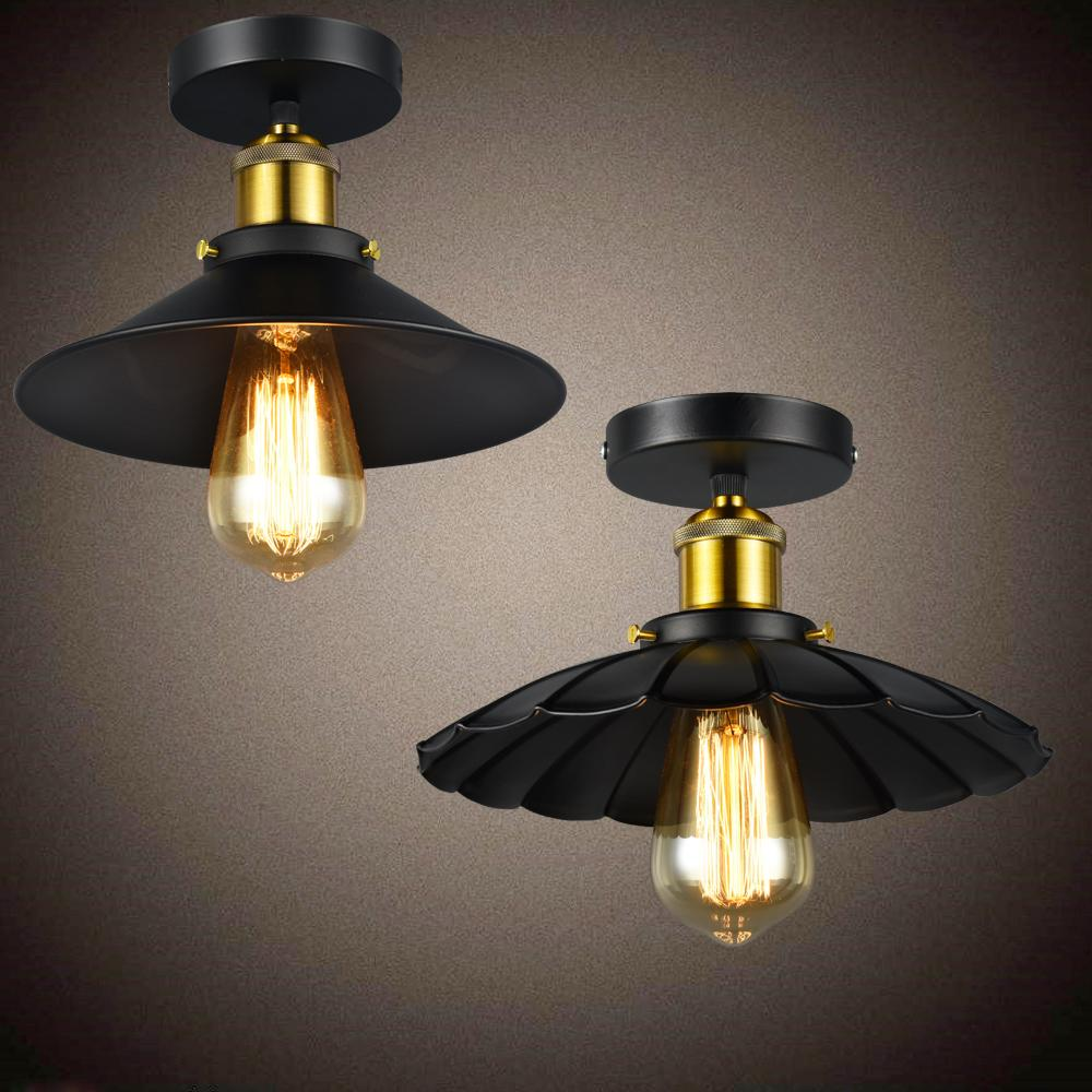 Russia vintage ceiling lights black industrial dining ceiling lamp modern edison bulbs lighting fixture with antique lampshades