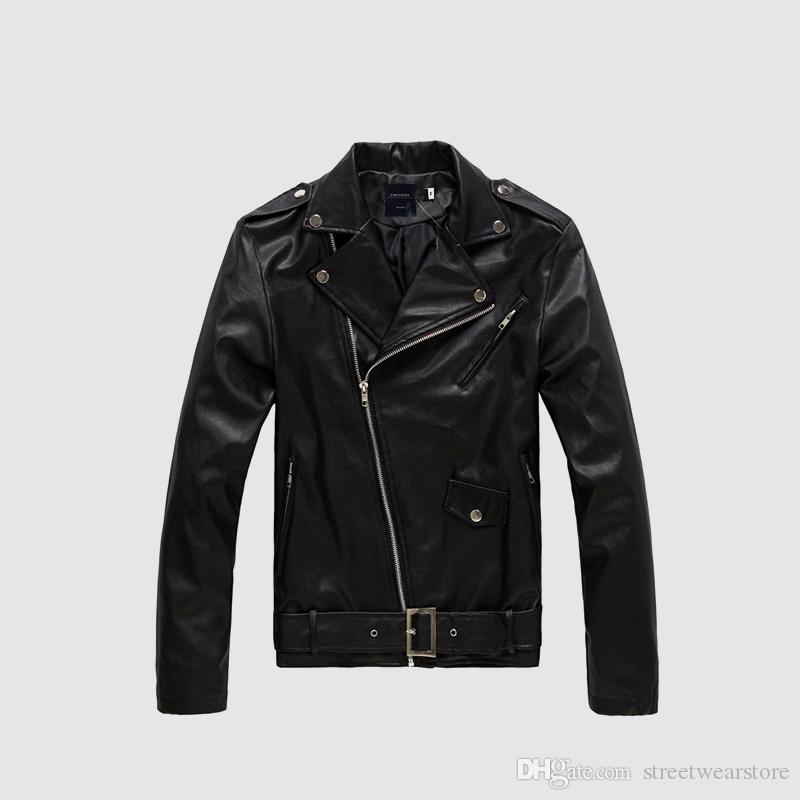 Men Leather Jacket Fashion Male PU Leather Thin Coats Motorcycle Riding Fur Coat Biker Jackets Mens Luxury Clothes