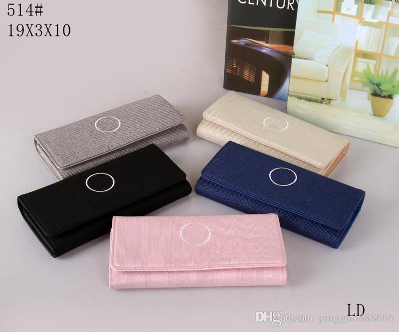 0597ca84e240 Venta al por mayor, monedero de las mujeres nuevas de la manera superventas  diseño simple de la manera de la cartera larga de la tela escocesa de las  ...