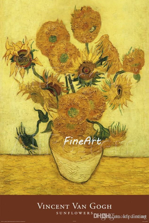 Hand Painted On Canvas Vincent Van Gogh Sunflowers Paintings