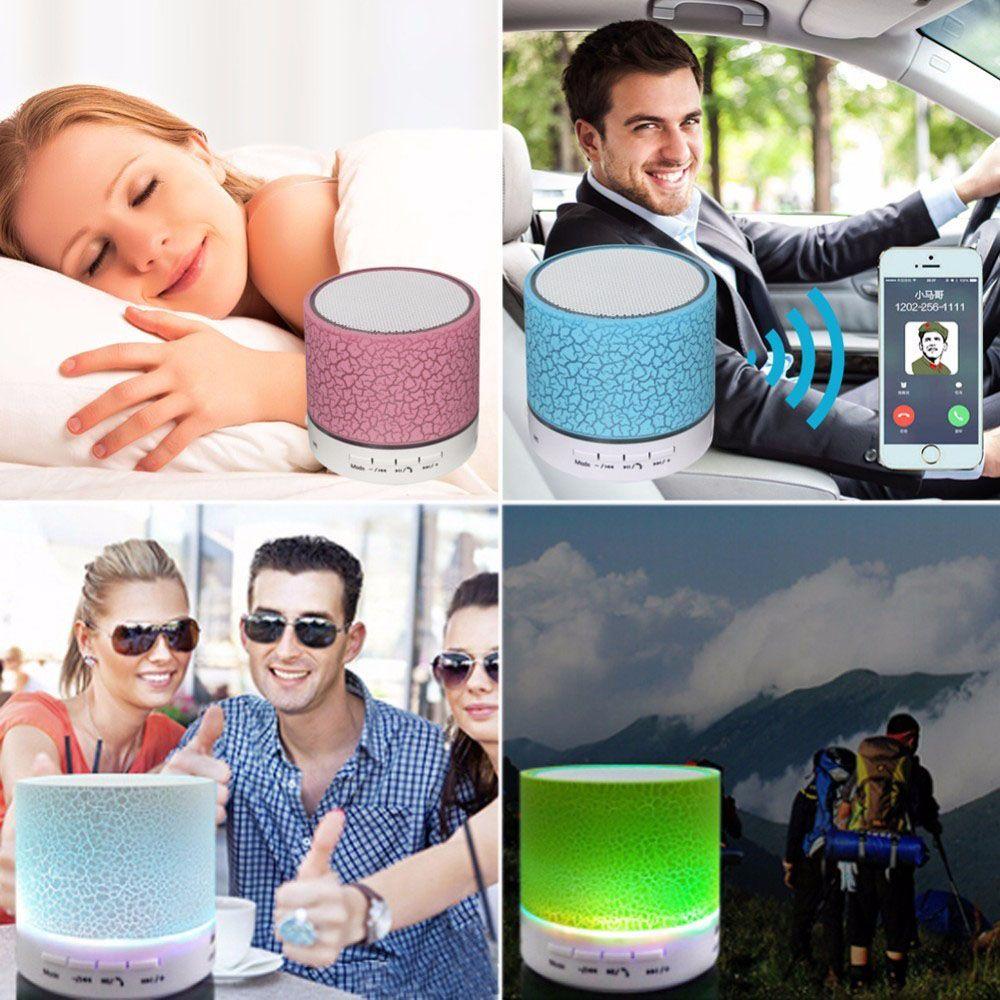 2018 новый популярный мода спикер портативный треск текстуры светодиодные красочные поддержка U диск enceinte Bluetooth parlante bluetooth portatil