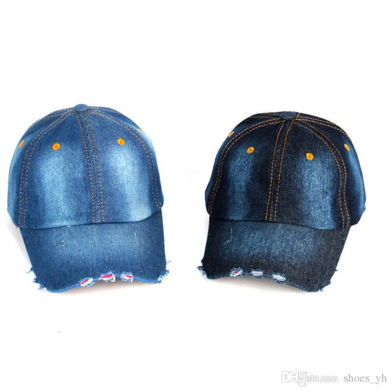 89f81fe30ae Autumn And Winter Light Board Washed Denim Baseball Couple Cap ...