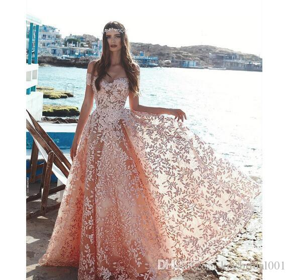 c0a9c179c64 Vintage Coral Lace Prom Dresses 2018 A Line Off The Shoulder Formal Evening  Gowns Zip Back Arabic Dubai Luxury Party Dress Buy Prom Dresses Online  Classic ...