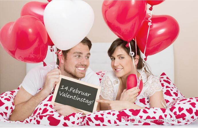 Romantische 12 Zoll 2.2g rote Liebe Herz Latex Hochzeit Helium Ballons Valentinstag Geburtstag Party aufblasbare Ballons
