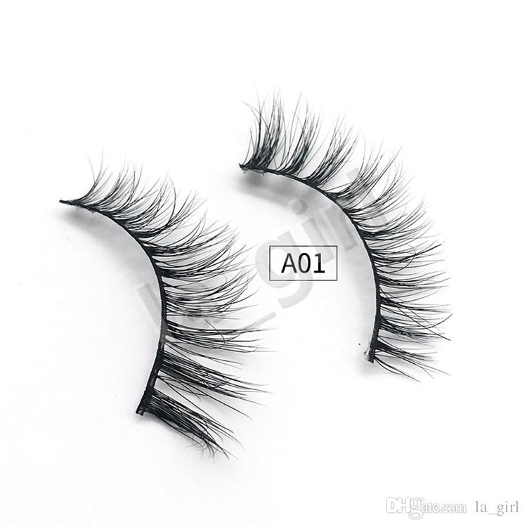 Style A 3D Mink False Eyelashes 100% Natural Soft Curl Genuine Siberian Mink Hair Handmade Luxury Fashion Fake Lashes