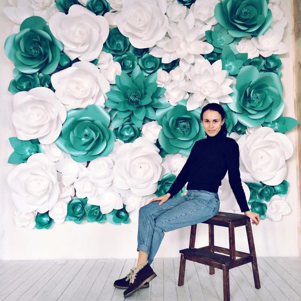 Best Quality Set Mix Size Cardstock Decorative Giant Paper Flowers