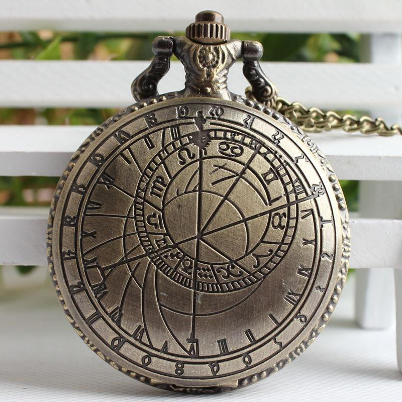 Bronze Color Doctor Who Theme Antique Pocket Watch With Dr Who
