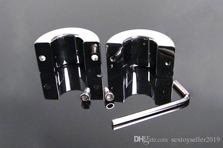 Aço inoxidável Maca Bola Anel Peniano Adulto Brinquedos Sexuais Engrenagem Bondage Penis Restrições Masculino Dispositivo de Castidade BDSM Scrotum Pingente Bola Pesos