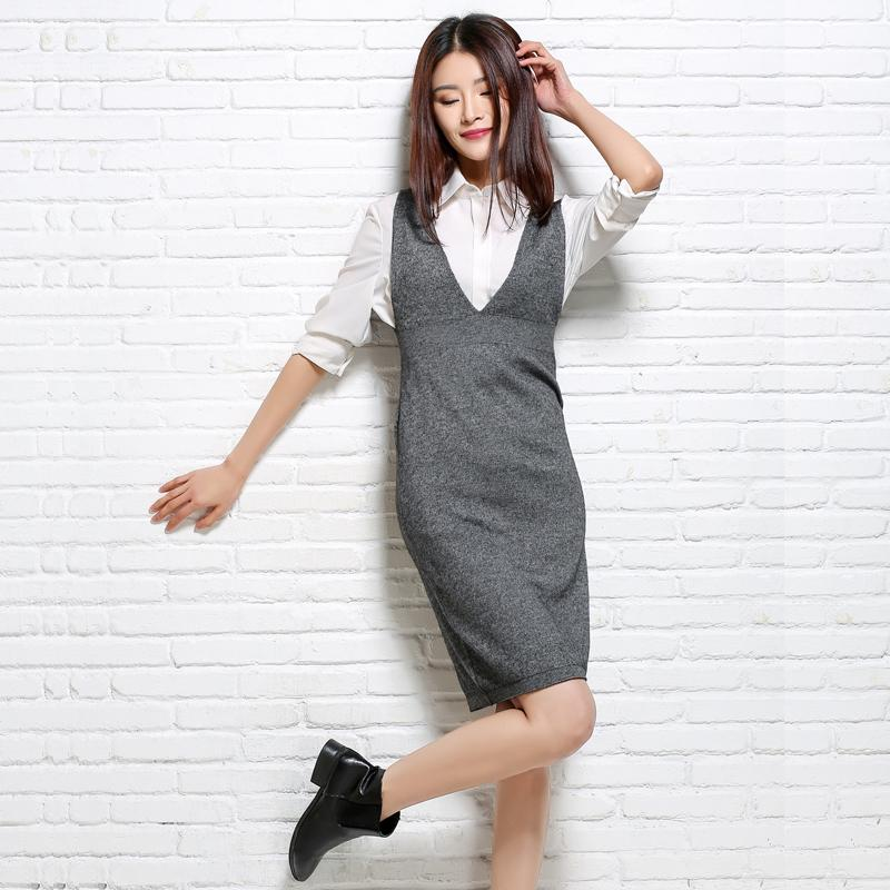 9c8dead2c8aad 2018 Pure Cashmere Sweater Vest And Long Sections Pullovers Sweater  Sleeveless Casual Dress Women Authentic S1030 UK 2019 From Ruiqi01