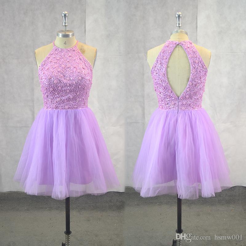 Compre Muestra Real De Tul Nuevos Vestidos De Baile Cortos De Moda ...