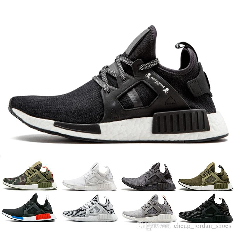 NMD XR1 Shoes Primeknit Black White Mens Women Running Shoes Mastermind  Japan Runner Sneakers Olive Camo Zebra Trainer Sports Shoes US 5 11 Trail  Running ... 5c81b8573a