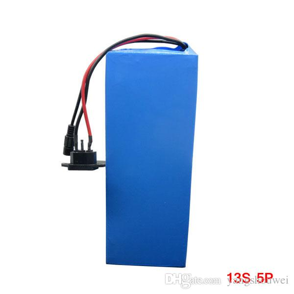 High Quality 750W 48V 13AH electric bike battery 48V Scooter battery use for Samsung cell 18650 2600mah with 54.6V 2A Charger 20A BMS