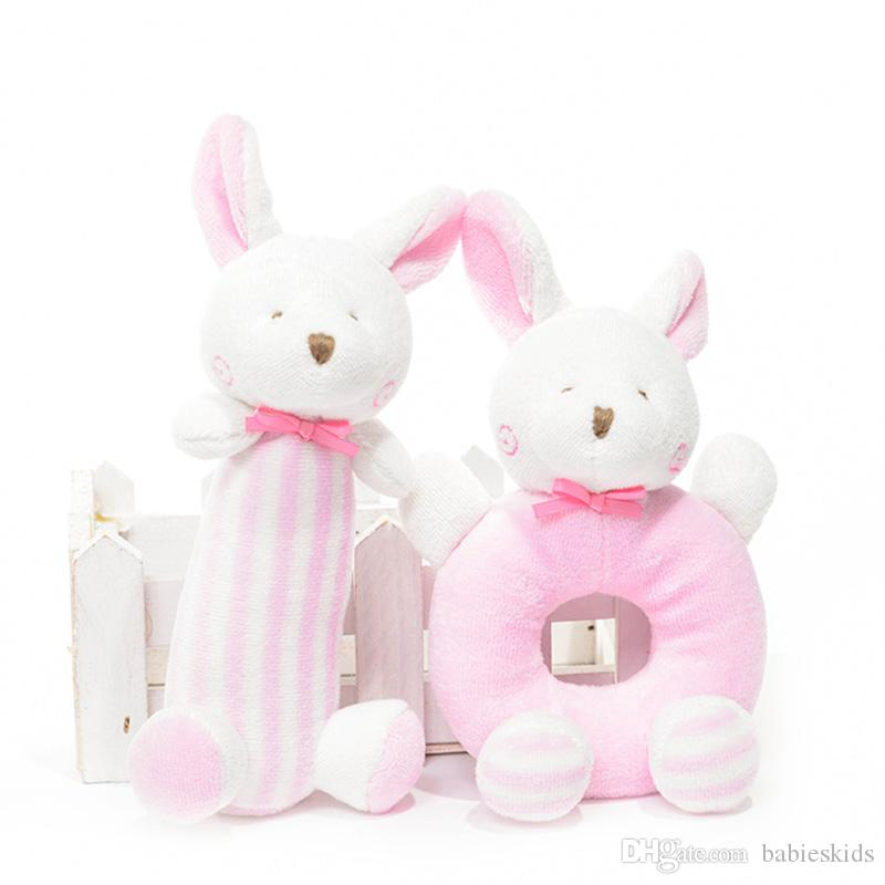 Developing Toys Baby Hanging Toys Baby Rabbit Bear Rattles Plush Toys Crib Ring Bed Bell Playing Toy Kids Gift Soft Doll
