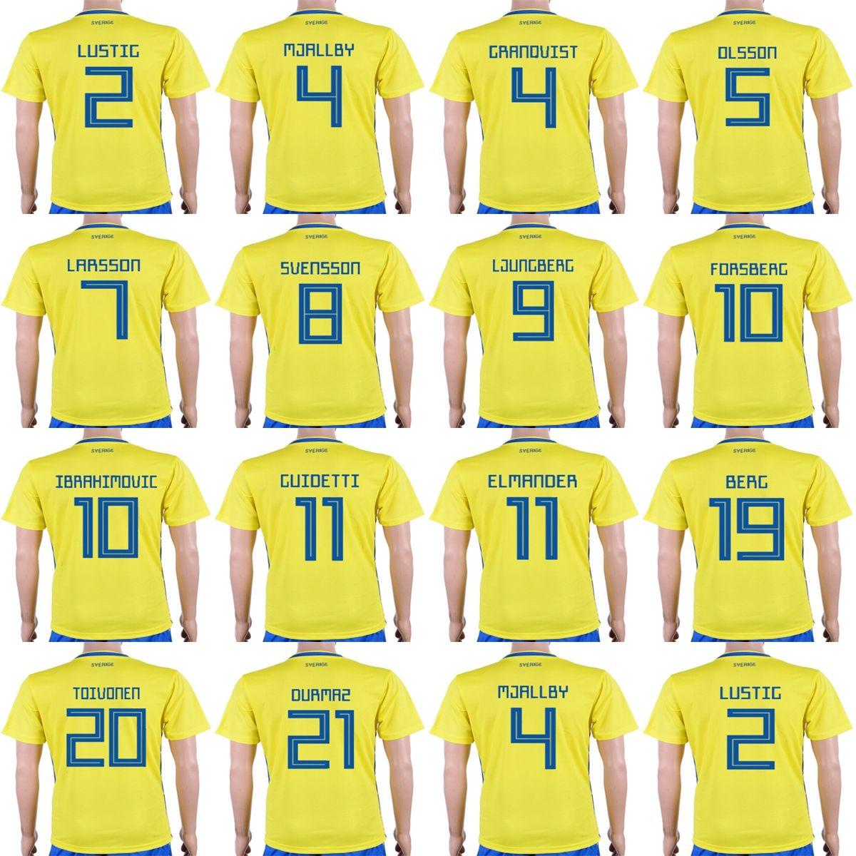 35fffd2244c Cheap Custom 2018 World Cup Sweden Men Lady Kid 10 Zlatan ...