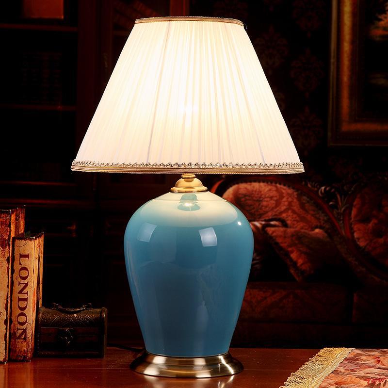 2019 China Antique Living Room Vintage Table Lamp Porcelain Ceramic ...