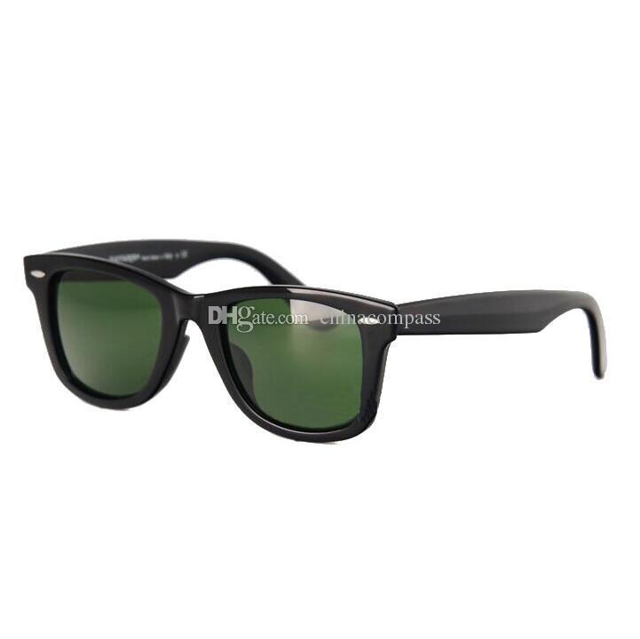 52 мм поляризованных матовый черный рамка синий объектив солнцезащитные очки стеклянные линзы стальные петли пляж солнцезащитные очки 3N