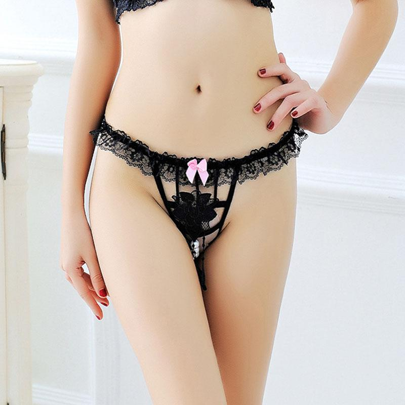 2019 Women'S Erotic Lace Briefs G String Thong Pearls Crotch Less Sexy Tang  Briefs Lady Embroidery Rose Flower Panties Transparent Underwear From  Hsaiiou, ...