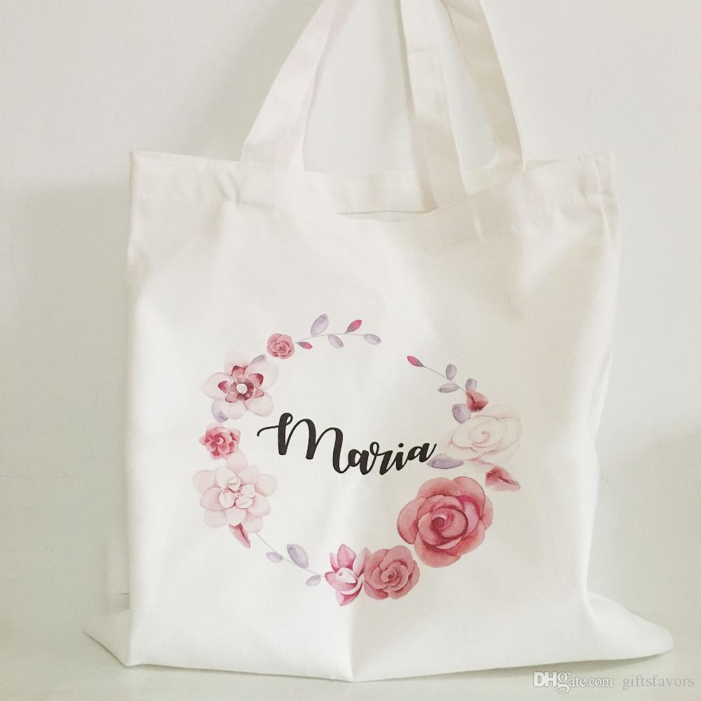 2018 Personalized Bridesmaid Gift Bags Bridal Party Tote Bag Wedding