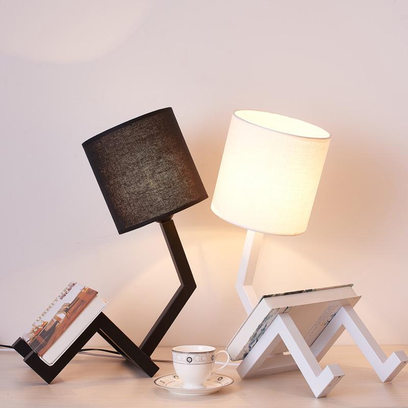 Best Modern Led Table Desk Lamp For The Bedroom Living Room Schoolchildren Black White Lamps Design Bedside Night Light Fixture Under 56 29 Dhgate