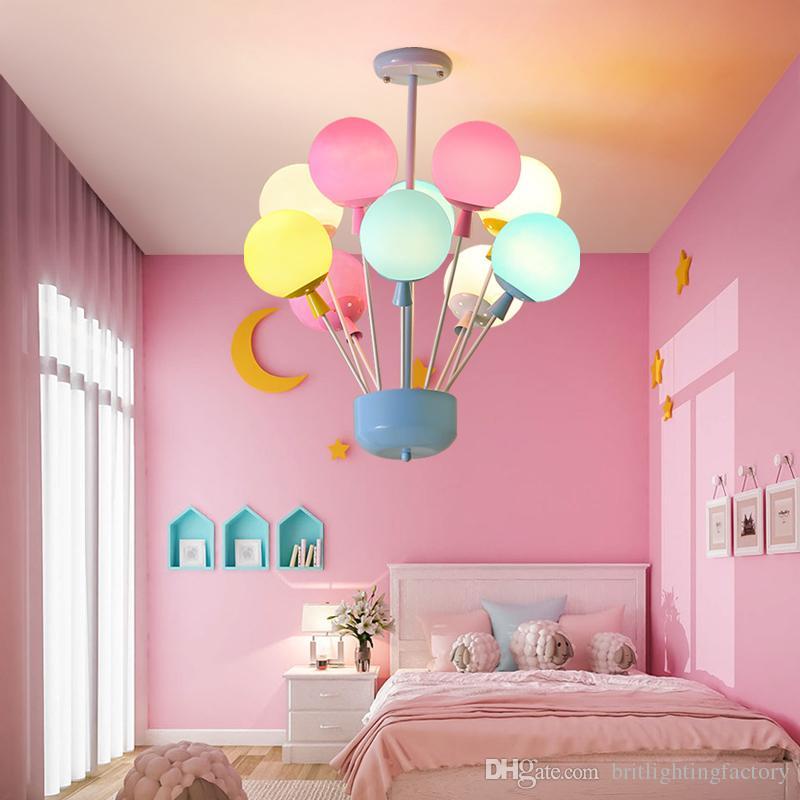Großhandel Kinderzimmer Kronleuchter Beleuchtung Warm Romantische  Schlafzimmer Esszimmer Farbe Glas Kronleuchter Moderne Kreative Foyer  Zimmer Anhänger ...