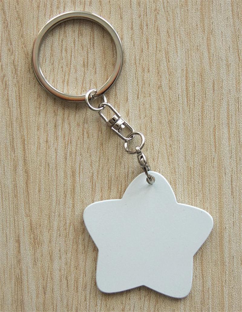 leeres Eisen keychains für Sublimationsherzstern-Schlüsselringschmucksachen für Wärmetransferdruck DIY Geschenk 9 Arten können Entwurf besonders anfertigen