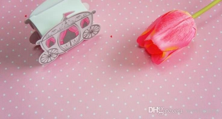 Pink Dot Gift Wrapping Paper Flower Bouquet Gift Wrap Packaging Paper Wallpaper DIY Material Festive & Party Supplies /Roll