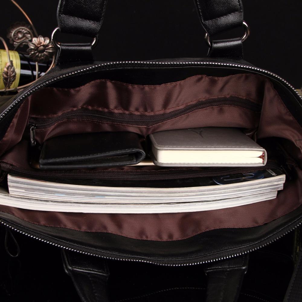 MYOSAZEE Berühmte Marke Männer Mode Einfachen Business Aktentasche Männlichen Pu-leder Laptoptasche Lässig Männer Reisetaschen Schulter