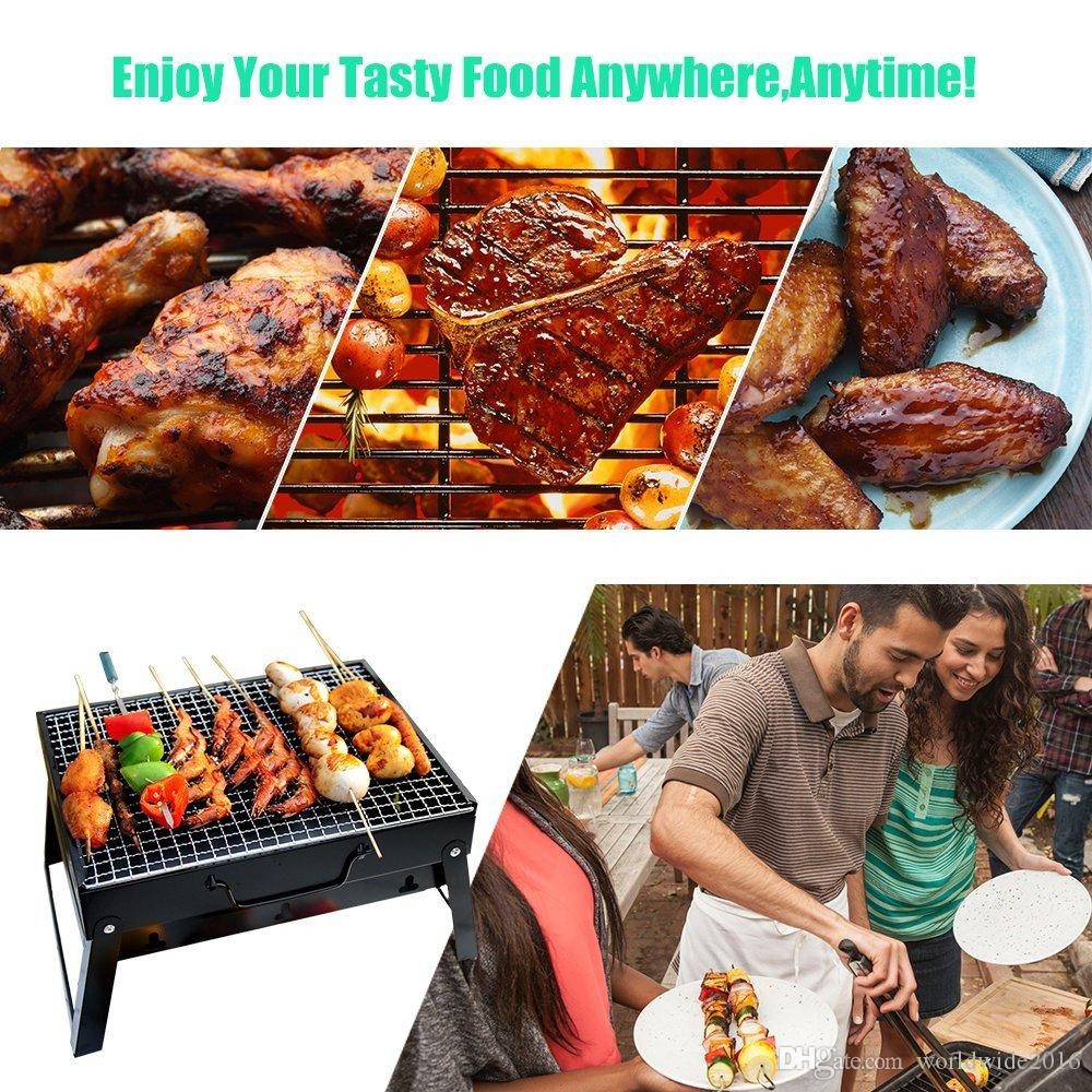 Hot sale Portable Barbecue Grill Simple Charcoal Grill Perfect Foldable Premium BBQ Grill for Outdoor Campers Barbecue Lovers Travel Park