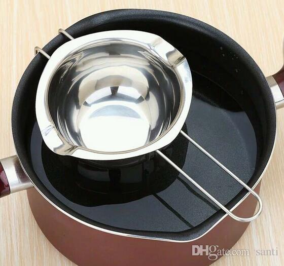 Nuova vaso di fusione del cioccolato in acciaio inossidabile doppia caldaia Latte Bowl Butter Caramy Warmer Pasticceria Strumenti di cottura