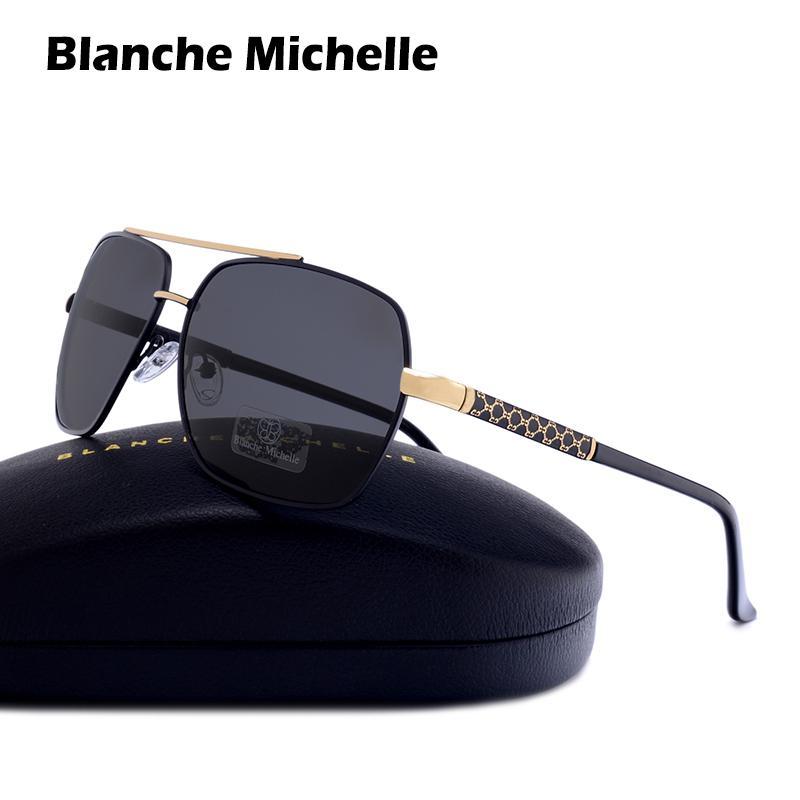 ccf21d9668 Blanche Michelle 2018 Square Polarized Sunglasses Men UV400 Brand High  Quality Sun Glasses Gafas De Sol Oculos With Box D18102305 Eyeglasses  Sunglasses Hut ...