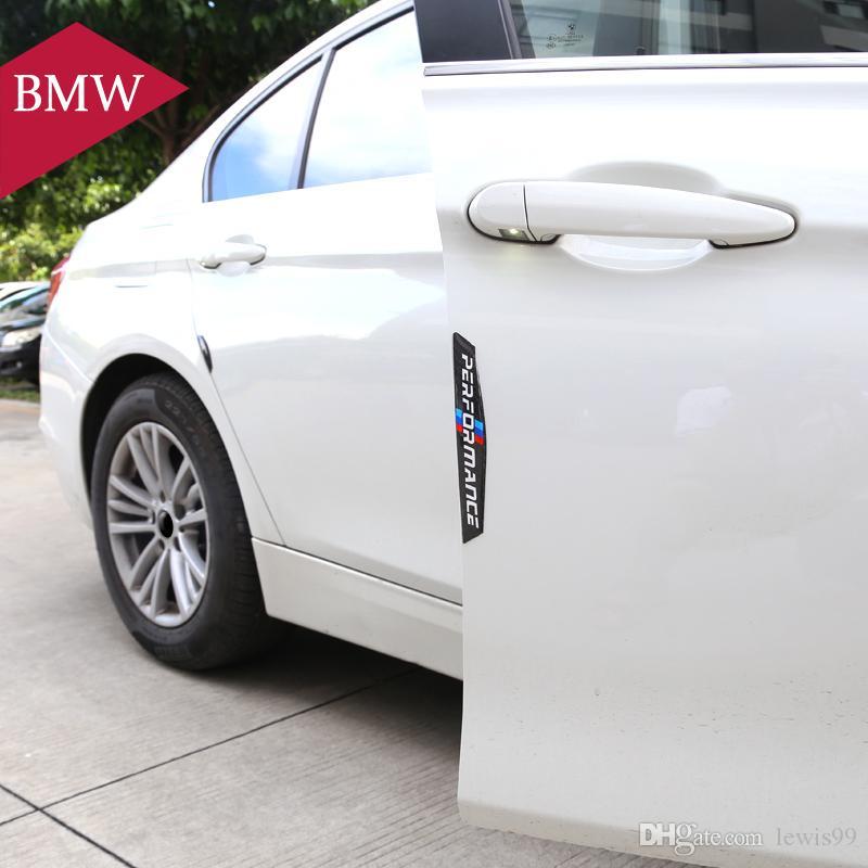protetor de porta Do Carro lado da porta de fibra de Carbono adesivos de carro Tiras Anti-colisão Adesivo para BMW E90 E46 F30 F10 X1 X3 X5 X6 GT Z4 F15 F16