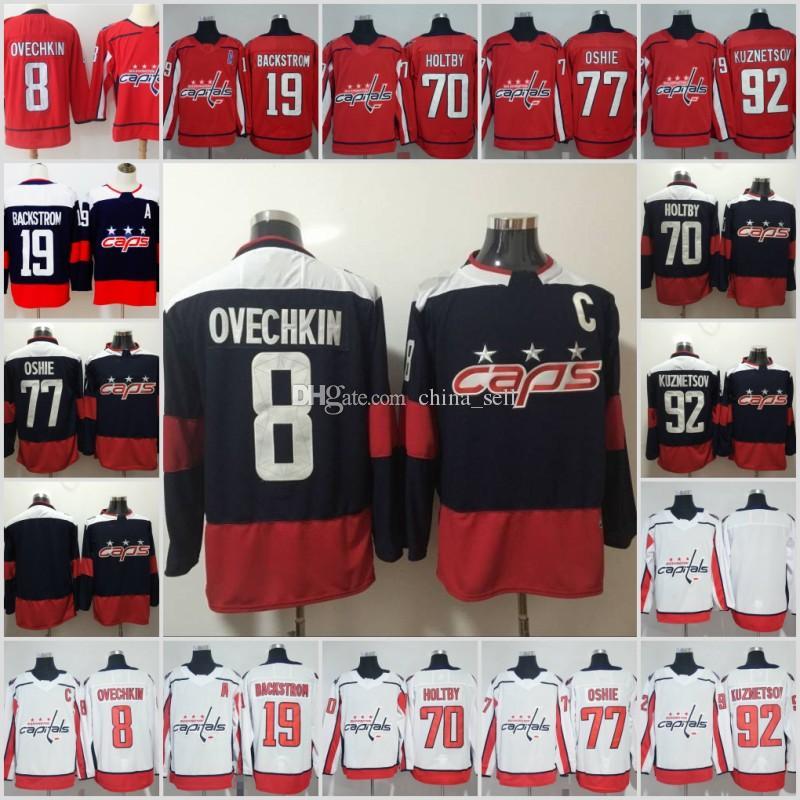 2018 Stanley Cup Champion Washington Capitals 8 Alex Ovechkin 43 Tom ... 58f8261bf