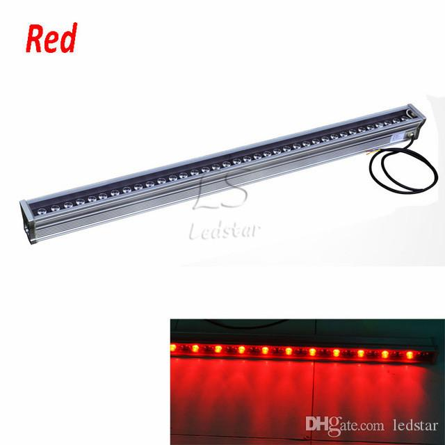 LED 벽 세탁기 RGB 12W 18W 24W 30W 36W 세척 벽 LED 램프 홍수 조명 얼룩 램프 막대 조명 LED 투광 조명 가로 조명