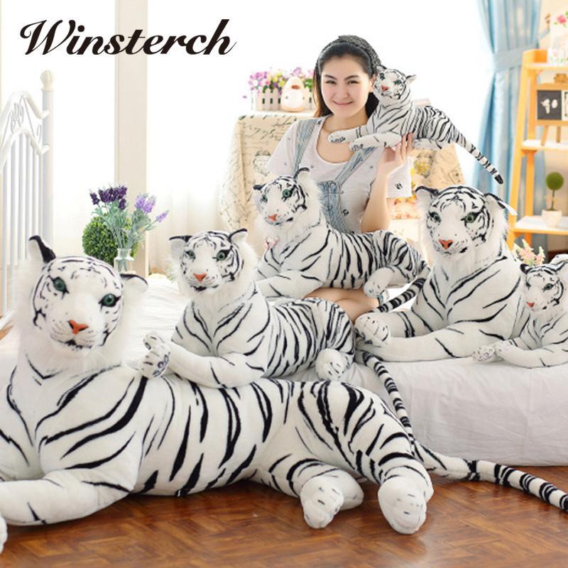 2019 Cute Plush White Tigers Stuffed Animals Plush Doll Vivid Tiger