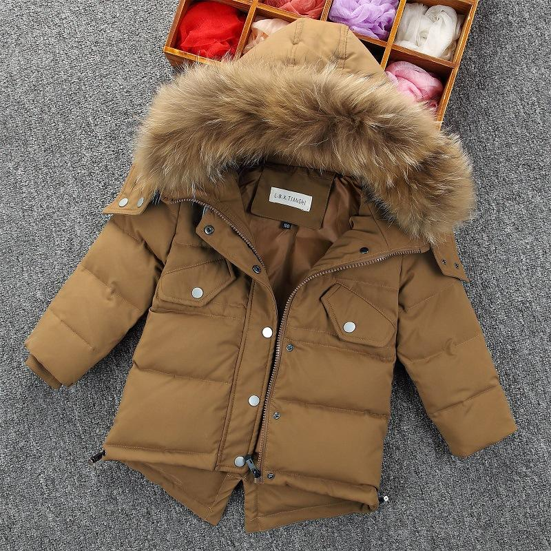 45fbe3404 Children Winter Duck Down Jacket Kids Snowsuit For Boys Jackets ...
