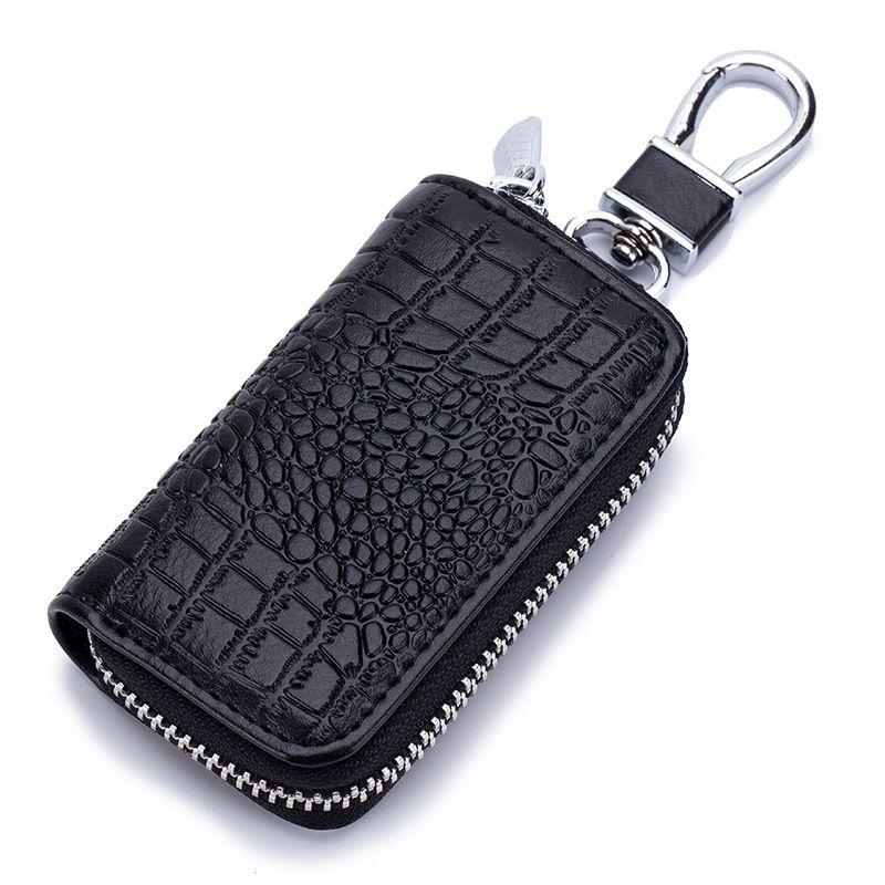 Fashion Crocodile Pattern General Remote Control Bag Men Car Key Holder  Zipper Women Lady Cowhide Key Organizer Porte Cle Womens Leather Wallet  Wallet ... 897cdf68ae