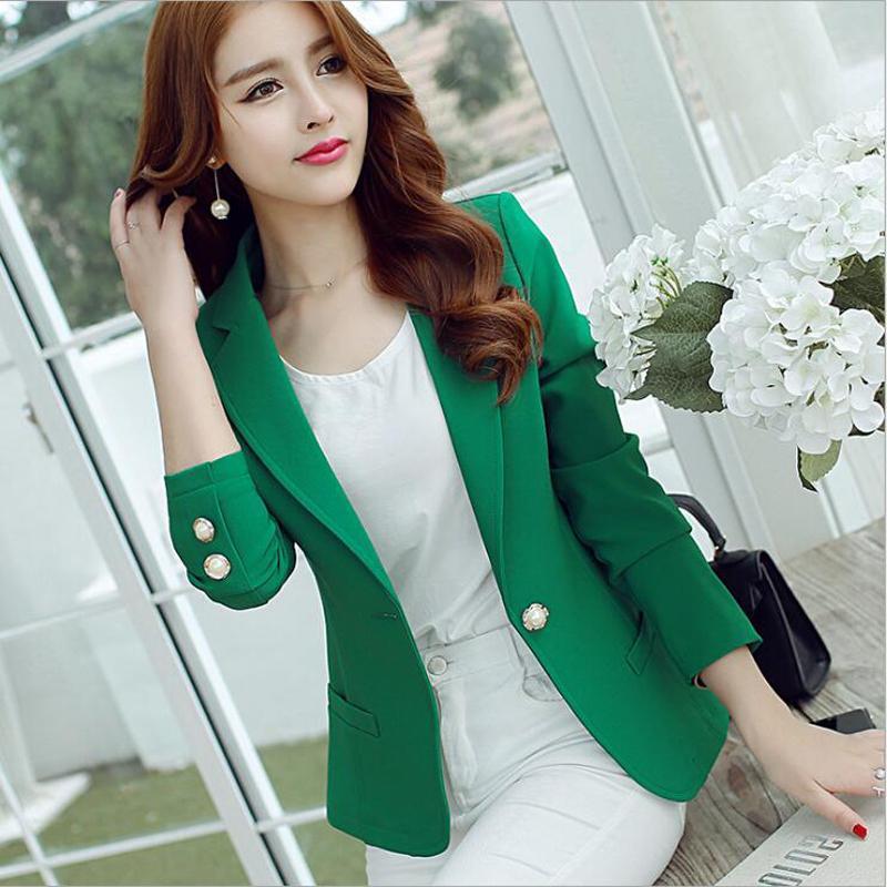 3121a8d9fe9 2019 Blazer Feminino Formal Jackets Women Jackets And Coats Ladies Blazer  Dress Office Work Notched Coat Feminino Abrigo Mujer 2018 L18101302 From  Tai002, ...