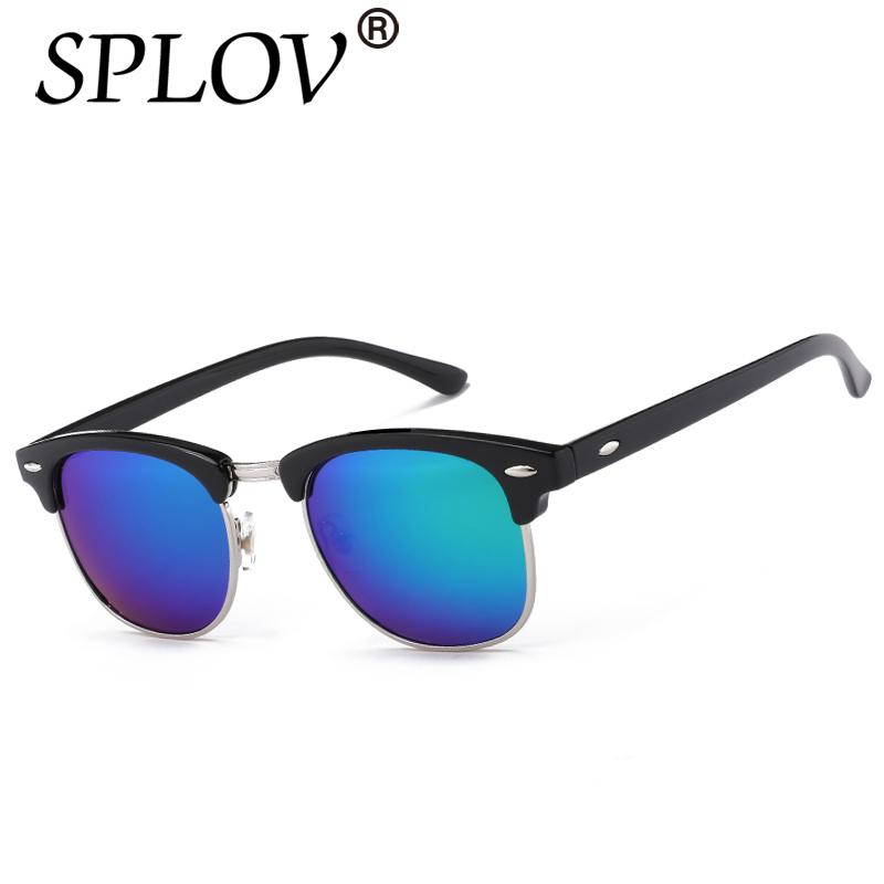 ba842f5ba Compre Metade Do Metal De Alta Qualidade Óculos De Sol Dos Homens Das  Mulheres Designer De Marca Óculos De Espelho Óculos De Sol Moda Gafas Oculos  De Sol ...