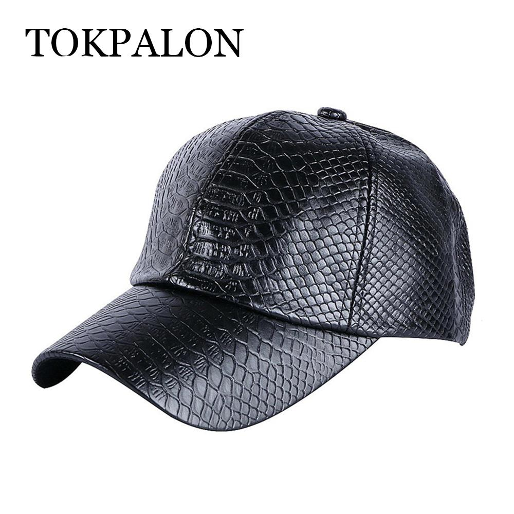 Men s Baseball Cap Winter Snapback Hat PU Leather Cap Men s Fashion Hat  Personality Flat Brim Hats Baby Cap From Fragmentt 120d4dcd5264