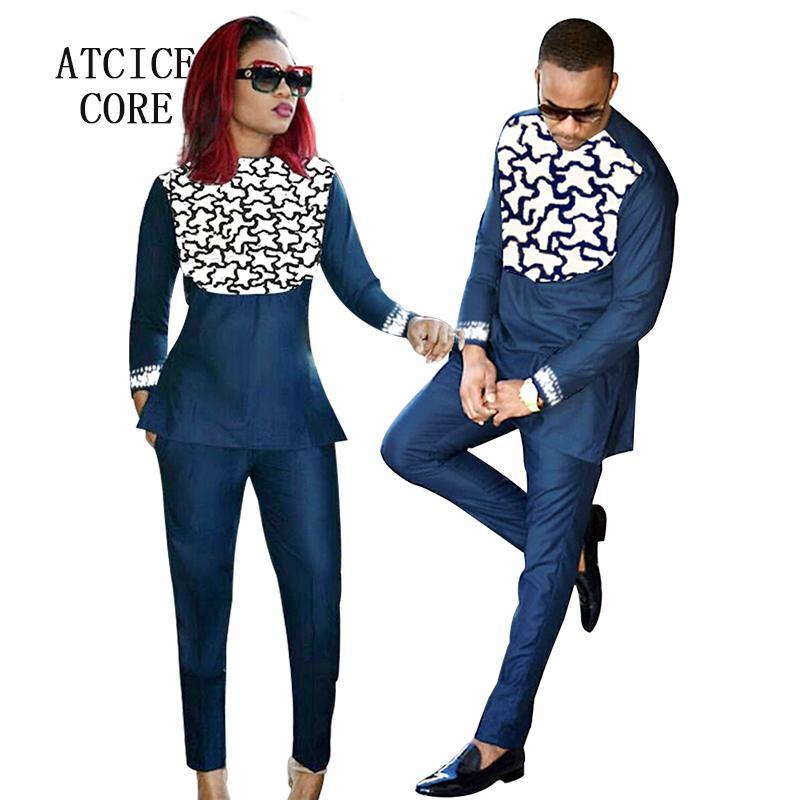 460082e6e Compre Roupas Africanas Para Homens E Mulheres Africano Bazin Riche Bordado  Design Casal Desgaste Roupas LC088 1 De Mapnature